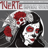 Muerte label for Backlash Beer Co.