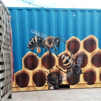 Beehive Shipping Container Back