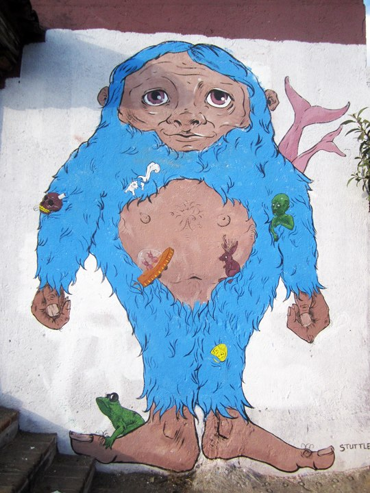 Bigfoot mural by Sophy