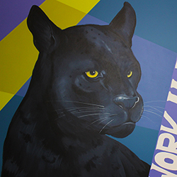 Fenway High School panther mural