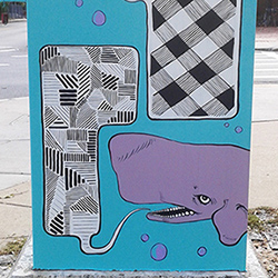 electrical box painted in Jamaica Plain