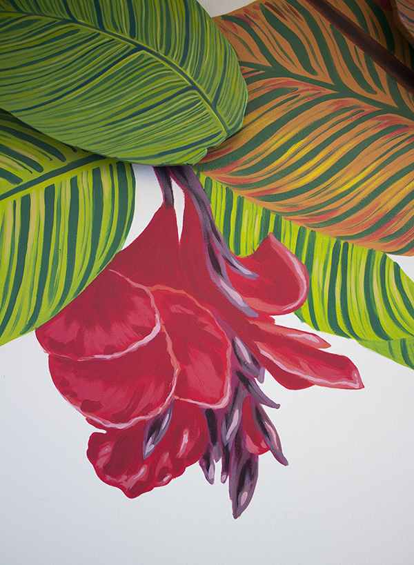 flower detail of mural by Sophy Tuttle