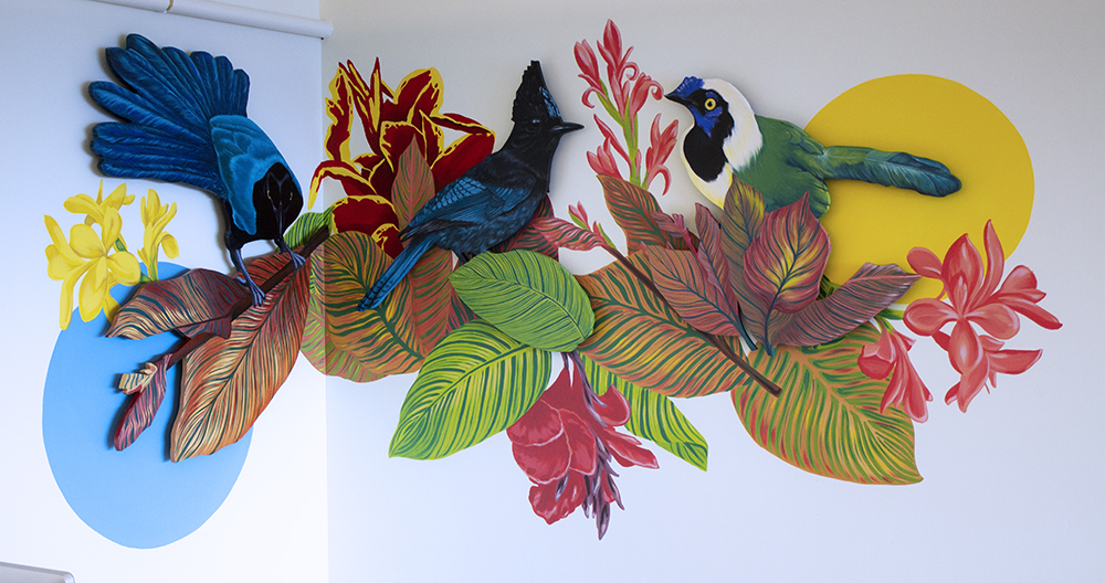 Full jay mural by Sophy Tuttle